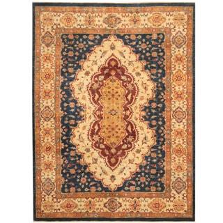 Herat Oriental Afghan Hand-knotted Super Kazak Wool Rug (5'11 x 7'10)