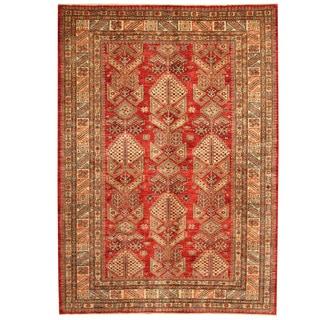 Herat Oriental Afghan Hand-knotted Super Kazak Wool Rug (5'8 x 7'10)