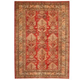 Handmade Herat Oriental Afghan Super Kazak Wool Rug - 5'8 x 7'10 (Afghanistan)
