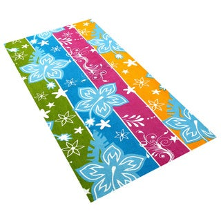 Printed 100 Percent Cotton Beach Towels (Set of 6)
