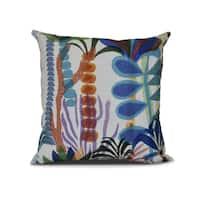 Tropical Jungle, Floral Print Pillow