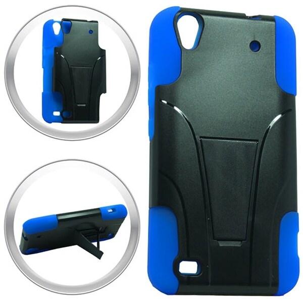 watch da730 a928b Shop (XL) ZTE Quartz Z797C Hybrid Case w/ Stand Dr. Blue - Free ...
