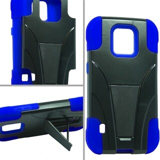 Samsung Galaxy S5 Sport Hybrid Case w/ Stand Blue