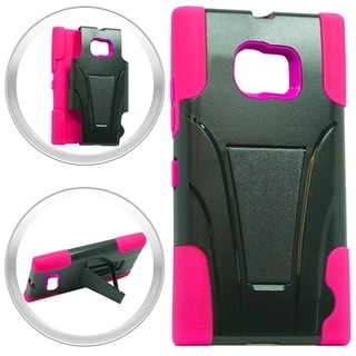 Samsung Galaxy S6 Active G890 Hybrid Case Stand Hot Pink