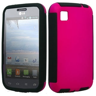 LG L39c Hybrid Slim Case Hot Pink