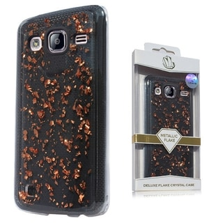 (XL) Samsung Note 5 N920 Deluxe Flake Case Rose Gold