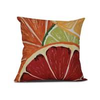 Lemonade, Geometric Print Pillow