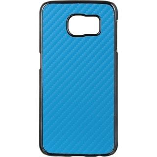 Samsung Galaxy S6 Carbon Fiber Chrome Case Blue