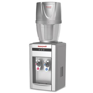 "Honeywell HWB2052S/HWB101S NEW Tabletop Water Cooler Dispenser, with 4 Gallon Filtration System, 21"", Silver"