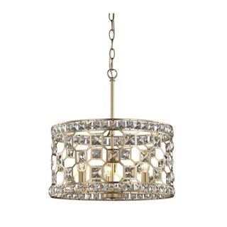 Fifth and Main Paris 3 Light Champagne Gold Pendant - Clear Crystal