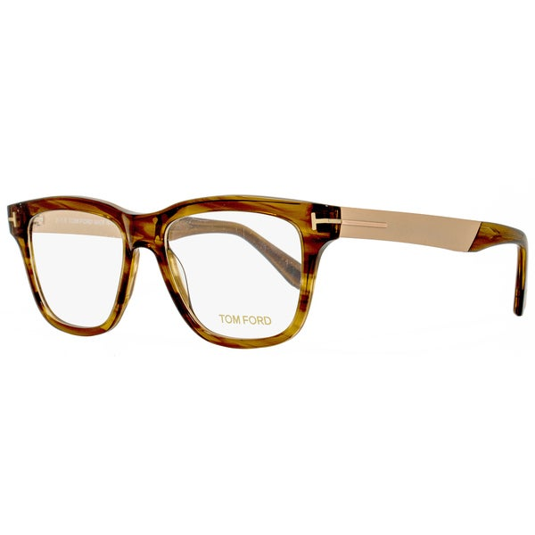 7a11d5fa1d7 Shop Tom Ford TF5372 048 Mens Brown 54 mm Eyeglasses - Free Shipping ...