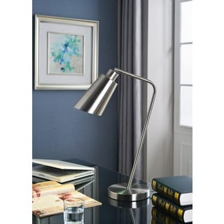 Design Craft Orbit Brushed Steel Desk Lamp
