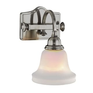 Fifth and Main Hartley 1 Light Satin Nickel Wall Sconce - Opal Glass