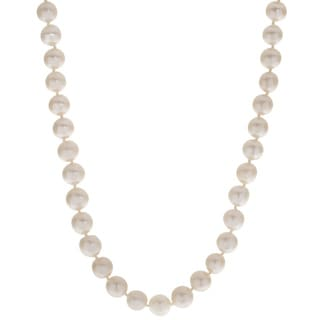 Pearls For You Sterling Silver Adjustable Freshwater Pearl Necklace (8.5-9.5 mm)