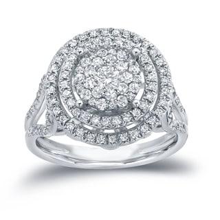Auriya 14k Gold 4/5ct TDW Diamond Cluster Engagement Ring ( H-I I1-I2)