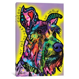 iCanvas My Schnauzer by Dean Russo Canvas Print