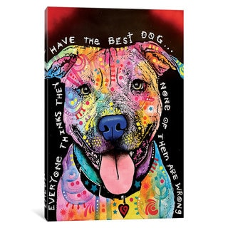 iCanvas Best Dog by Dean Russo Canvas Print
