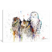 iCanvas 'Owls Don't Sleep' by Dean Crouser Canvas Print
