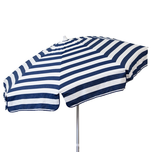 Sorbus Led Outdoor Umbrella: DestinationGear Italian 7.5 Ft Blue And White Patio