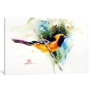 iCanvas 'Orange Bird' by Dean Crouser Canvas Print