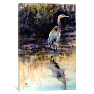iCanvas 'Heron' by Dean Crouser Canvas Print