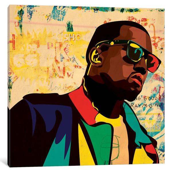 iCanvas 'Kanye' by Dai Chris Art Canvas Print