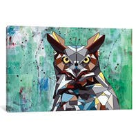 iCanvas Owl by DAAS Canvas Print