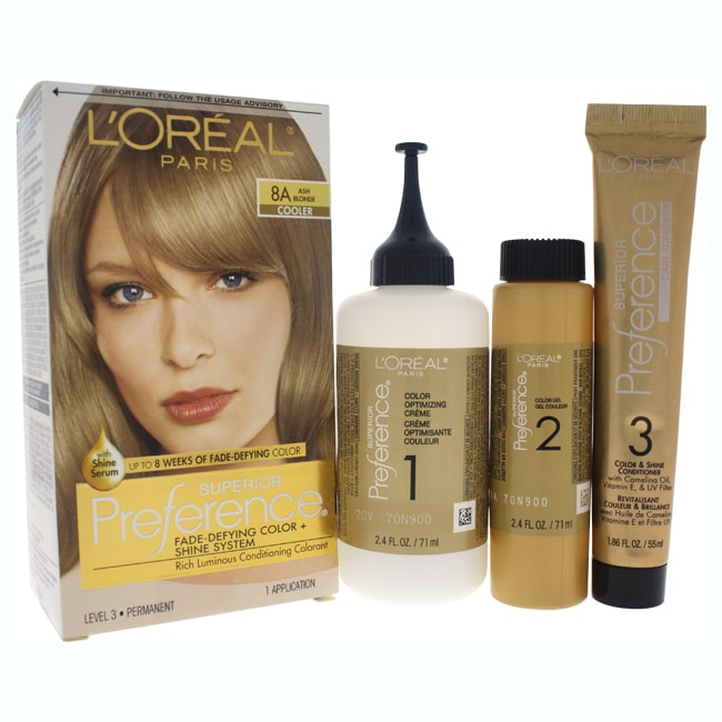 L'Oreal Paris Superior Preference Fade-Defying Color 8A A...