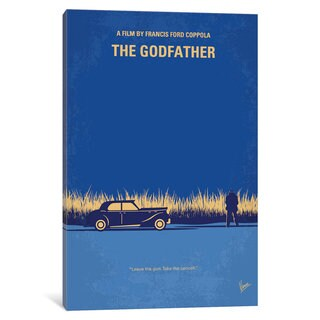 iCanvas 'The Godfather Minimal Movie Poster' by Chungkong Canvas Print