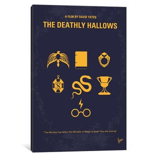 iCanvas Harry Potter And The Deathly Hollows: Part I Minimal Movie Poster by Chungkong Canvas Print
