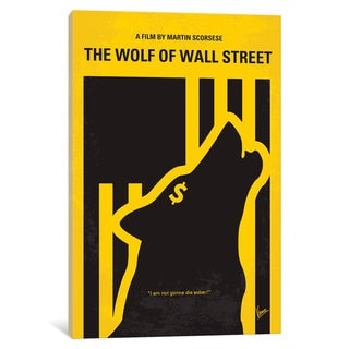 iCanvas The Wolf Of Wall Street Minimal Movie Poster by Chungkong Canvas Print