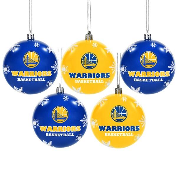 Golden State Warriors NBA 5 Pk Shatterproof Ornaments