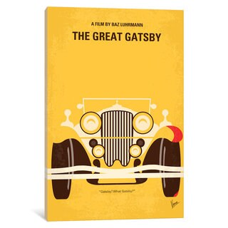 iCanvas 'The Great Gatsby Minimal Movie Poster' by Chungkong Canvas Print