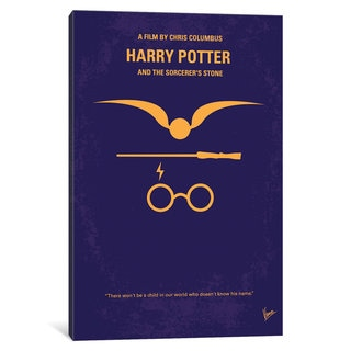 iCanvas 'Harry Potter And The Sorcerer's Stone Minimal Movie Poster' by Chungkong Canvas Print