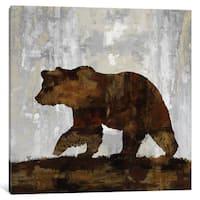 iCanvas Bear by Carl Colburn Canvas Print