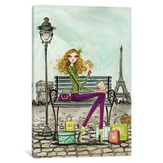 iCanvas World Shopper: Paris by Bella Pilar Canvas Print
