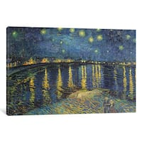 iCanvas 'Starry Night over the Rhone, 1888 ' by Vincent van Gogh Canvas Print