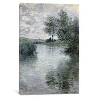iCanvas 'The Seine at Vetheuil, 1879 ' by Claude Monet Canvas Print