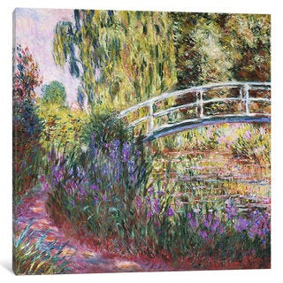 iCanvas The Japanese Bridge, Pond with Water Lilies, 1900 by Claude Monet Canvas Print