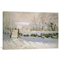 iCanvas The Magpie, 1869  by Claude Monet Canvas Print