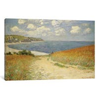 iCanvas 'Path in the Wheat at Pourville, 1882 ' by Claude Monet Canvas Print