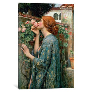 iCanvas 'The Soul of the Rose, 1908 ' by John William Waterhouse Canvas Print