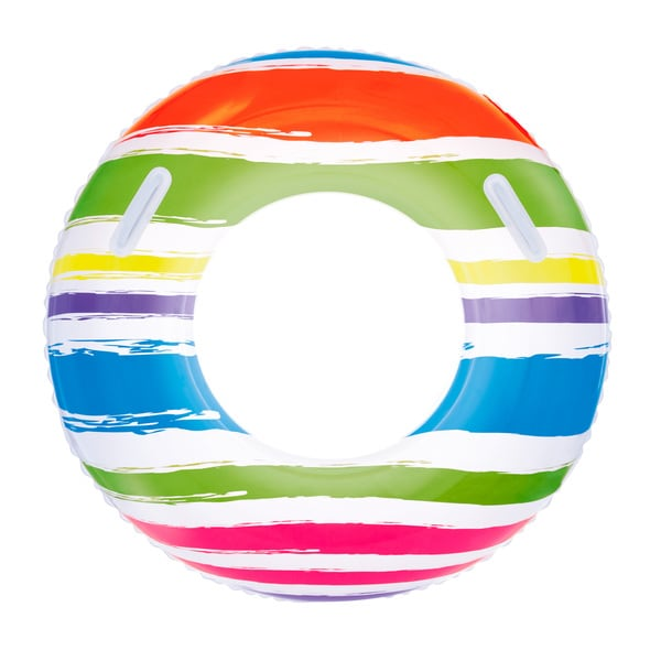 36 Inch Red, Green, Blue and Purple Striped Swim Tube