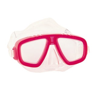 Red Hydro-Splash Dual Lens Dive Mask