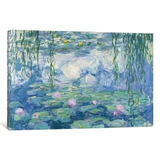 iCanvas 'Waterlilies, 1916-19 ' by Claude Monet Canvas Print