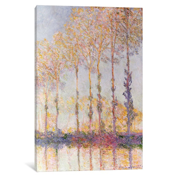 iCanvas Poplars on the Banks of the Epte, 1891 by Claude Monet Canvas Print