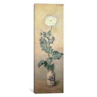 iCanvas White Poppy, 1883 by Claude Monet Canvas Print