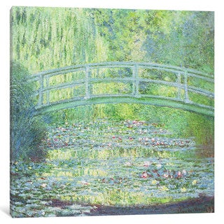 iCanvas 'The Waterlily Pond with the Japanese Bridge, 1899' by Claude Monet Canvas Print