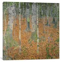 iCanvas 'The Birch Wood, 1903' by Gustav Klimt Canvas Print