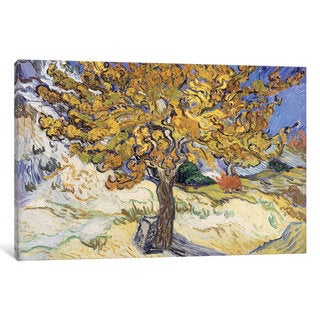 iCanvas 'Mulberry Tree, 1889 ' by Vincent van Gogh Canvas Print